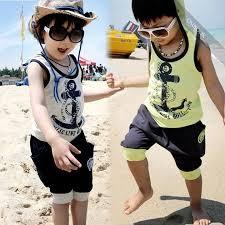 Boys 2pc hood T Shirt & harem shorts