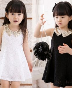 Cute lacey sequin dress for little girls