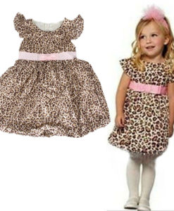 Kids leopard print party dress