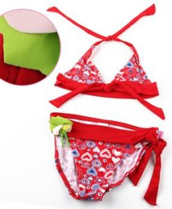 Red 2pc kids swimsuit