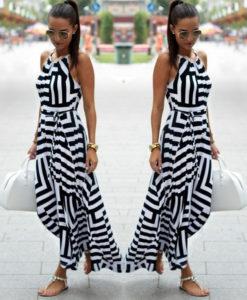 black & white sundress