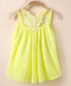 girls party tutu sleeveless chiffon summer dress