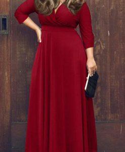 Beautiful Red Plus size maxi dress