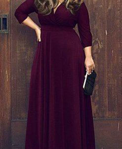 Gorgeous Purple Plus Size Maxi Dress
