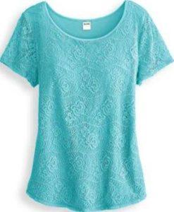 Plus size mint blouse
