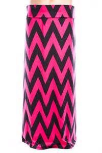 black & Pink deep wave maxi skirt